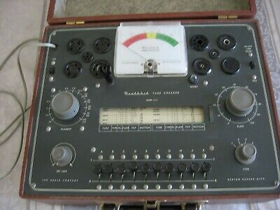 Vintage Heathkit Dynamic Vacuum Electron Tube Tester Checker Model Tc-2 Untested