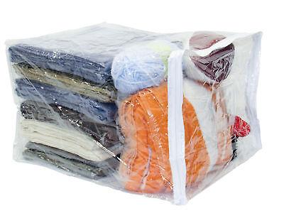 Clear Vinyl Zippered Storage Bags 15 x 18 x 12 Inch 5-Pack Clear Vinyl Zippered Bag
