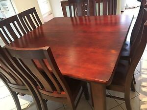 8 seater timber dining set Horningsea Park Liverpool Area Preview