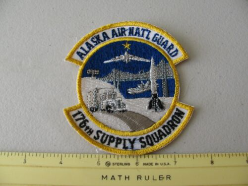 VINTAGE ALASKA  AIR GUARD 176TH SUPPLY SQUADRON COLORED PATCH ~NICE~