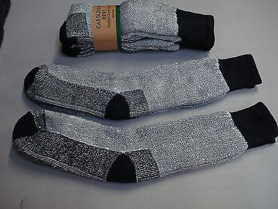 NWT Men's Carolina's Best 65% Merino Wool Socks Shoe Size 9-13 Black 2 Pair