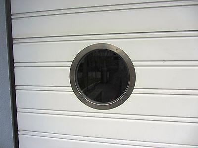 Türbullauge Klarglas 25,5cm Edelstahl Bullauge Rundfenster edles Design NEU