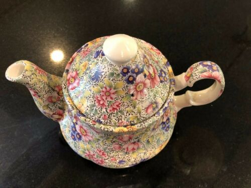 CHINTZ TEAPOT, MADE IN ENGLAND, STAFFORDSHIRE