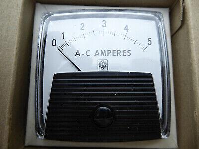 Ge Panel Mount Meter Aw91 0-5 Amps Ac