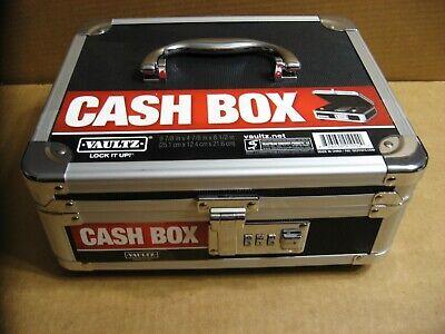 New Vaultz Cash Box Lock Box 10x8-34x5 W Combination Lock Inner Tray