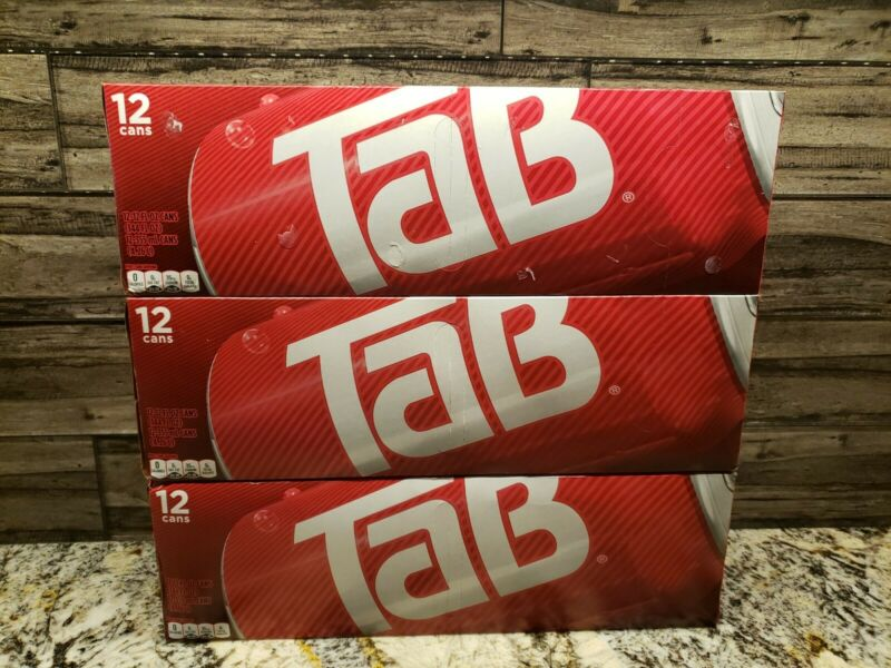 TAB Cola Fridge Pack (3) 12-Pack Tab Soda 36 Cans
