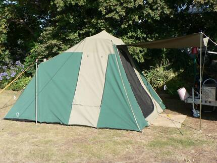 oztrail tourer plus 9 canvas tent & 3 Man Tent | Camping u0026 Hiking | Gumtree Australia Hobart City ...