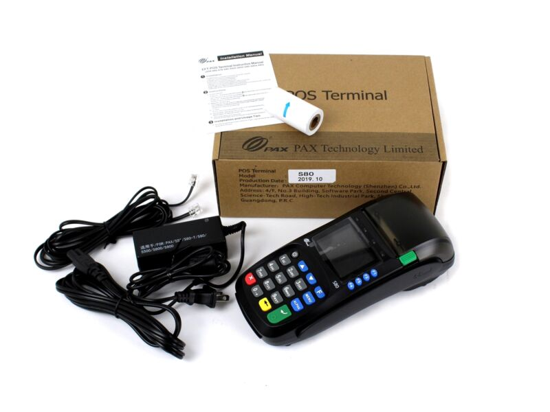 NEW PAX S80 POS Credit Card Terminal Thermal Printer