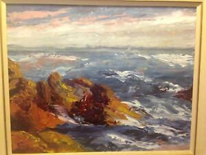 Canadian listed artist Kenneth W Drysdale oil seascape painting