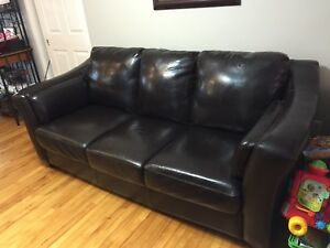 Leather sofa - dark brown /expresso