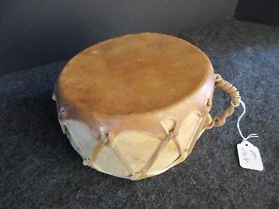 NATIVE AMERICAN DRUM, HAND MADE LEATHER HAND DRUM, SWEAT LODGE DRUM,   OTT-076A