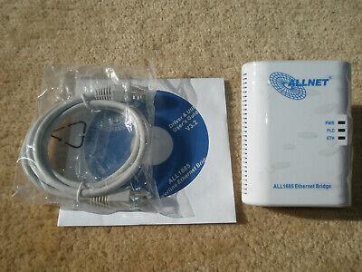1x Allnet PowerLAN Adapter ALL1685 Ethernet Bridge