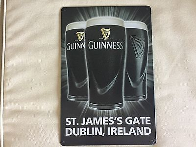 Cool Breweriana  St  James Gate Guinness Metal Beer Sign New 8 X 11 3 4