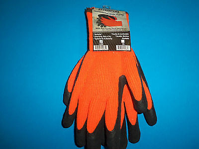 New Forester Insulated Rubber Palm Work Gloves Large 685003 Free Shipping Large