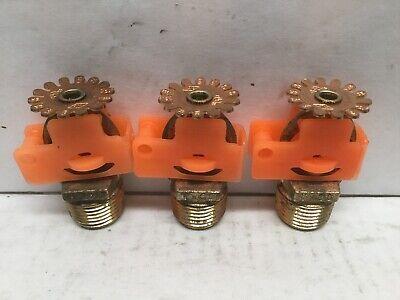 Tyco Ty323 Pendant Fire Sprinkler Head 155f K5.6 Lot Of 3