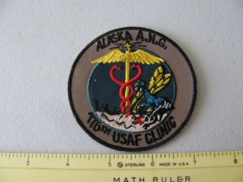 VINTAGE ALASKA  AIR GUARD 176TH USAF CLINIC COLORED UNIFORM PATCH ~NICE~