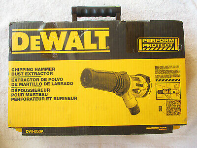 New Dewalt Chipping Hammer Dust Extractor Dwh053k. With Case
