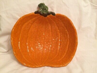 Beautiful Ceramic Pumpkin Bowl, Large, Bright Colors