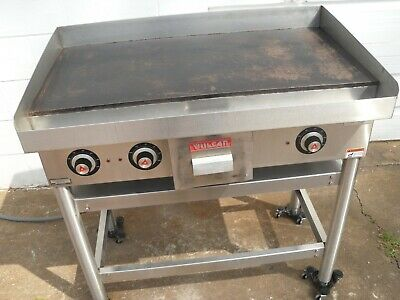 Used Vulcan Commercial 36 Heavy Duty Electric Griddle On Stand Model Heg 36s-3