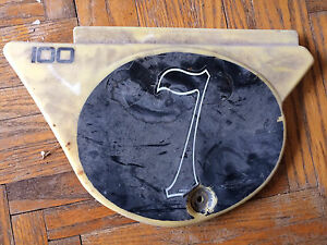 1978-1981 Yamaha YZ100 Left Sidecover Number Plate