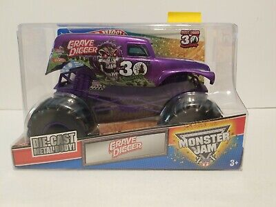 SIGNED Purple GRAVE DIGGER D.ANDERSON!! Hot Wheels 30th Anniversary Monster Jam