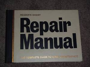 READERS DIGEST REPAIR MANUAL. GUIDE TO HOME MAINTENANCE Redland Bay Redland Area Preview