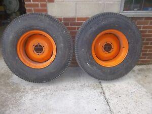 Compact Tractor wheels, turf tyre, Gym, Kubota, possibly JD, Exercise or Iseki