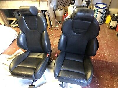 RECARO Audi A3 S3 8L electric Black Leather Front Seats Golf Mk4 Seat Leon Cupra