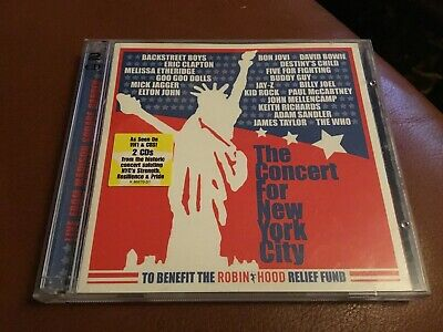 The Concert for New York City by Various Artists (CD, Nov-2001, 2 Discs)