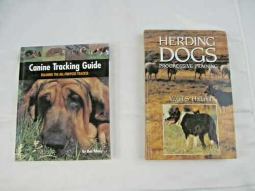 2 Books Canine Tracking Guide, Abney, Herding Dogs Progesssive Training, Holland