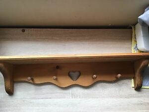 Wooden wall shelves (2)