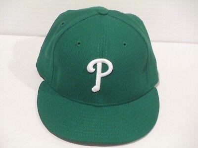 7c02cdc1951 GREEN 2016 Philadelphia Phillies Hunter size 7 GAME USED HAT MLB hologram
