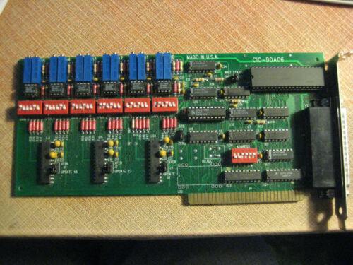 Measurement Computing CIO-DDA06 ISA 6 Analog Output Board 0-10V 24 Digital I/O