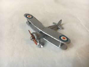 VINTAGE MECCANO DINKY TOYS GLOSTER GLADIATOR BIPLANE FIGHTER AIRCRAFT GOOD