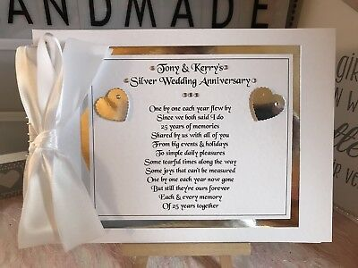 50th Anniversary Guest Book Personalized (PERSONALISED GUEST BOOK 10th 25th 40th 50th ANNIVERSARY WITH POEM ON THE)