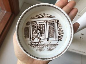 ADAMS REAL ENGLISH IRONSTONE 'QUALITY GROCERS' Small Dish