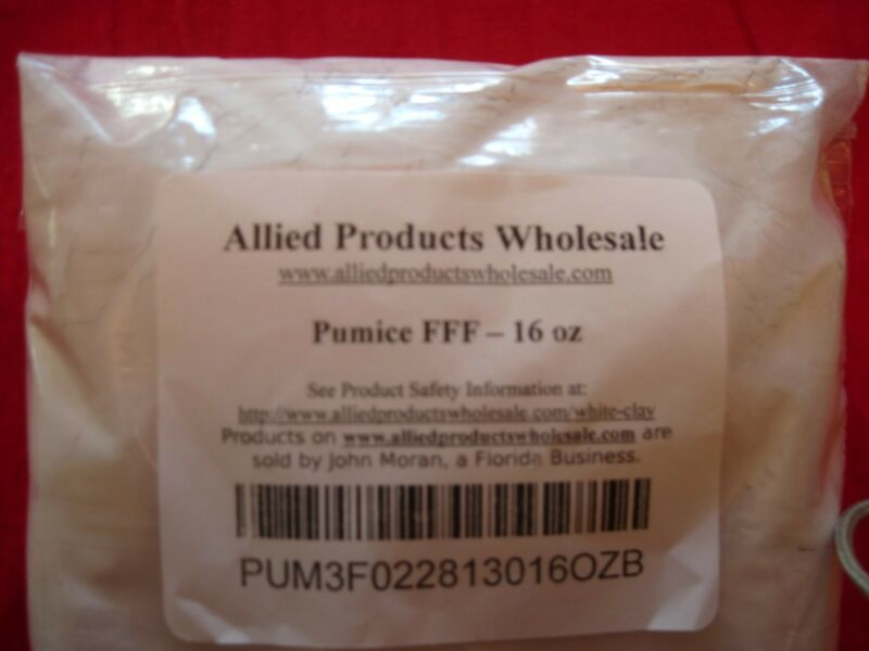 Pumice Powder (3 Grades, FFFF, FFF, FF) 1 oz to 5 pounds