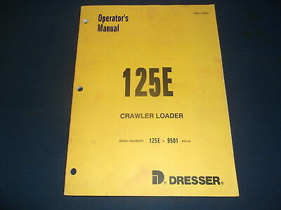 Komatsu Dresser 125e Crawler Loader Operation Maintenance Book Manual