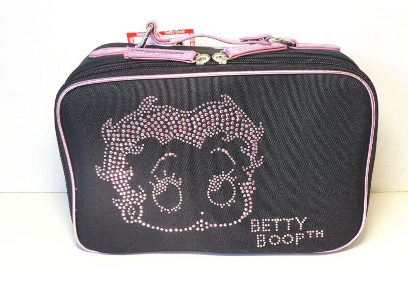 BETTY BOOP COSMETIC BAG FACE DESIGN BLACK