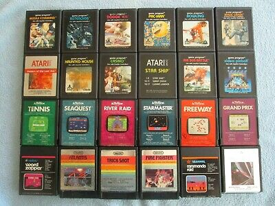 Atari 2600 Lot of 24 Tested Working Games - All Unique Titles!