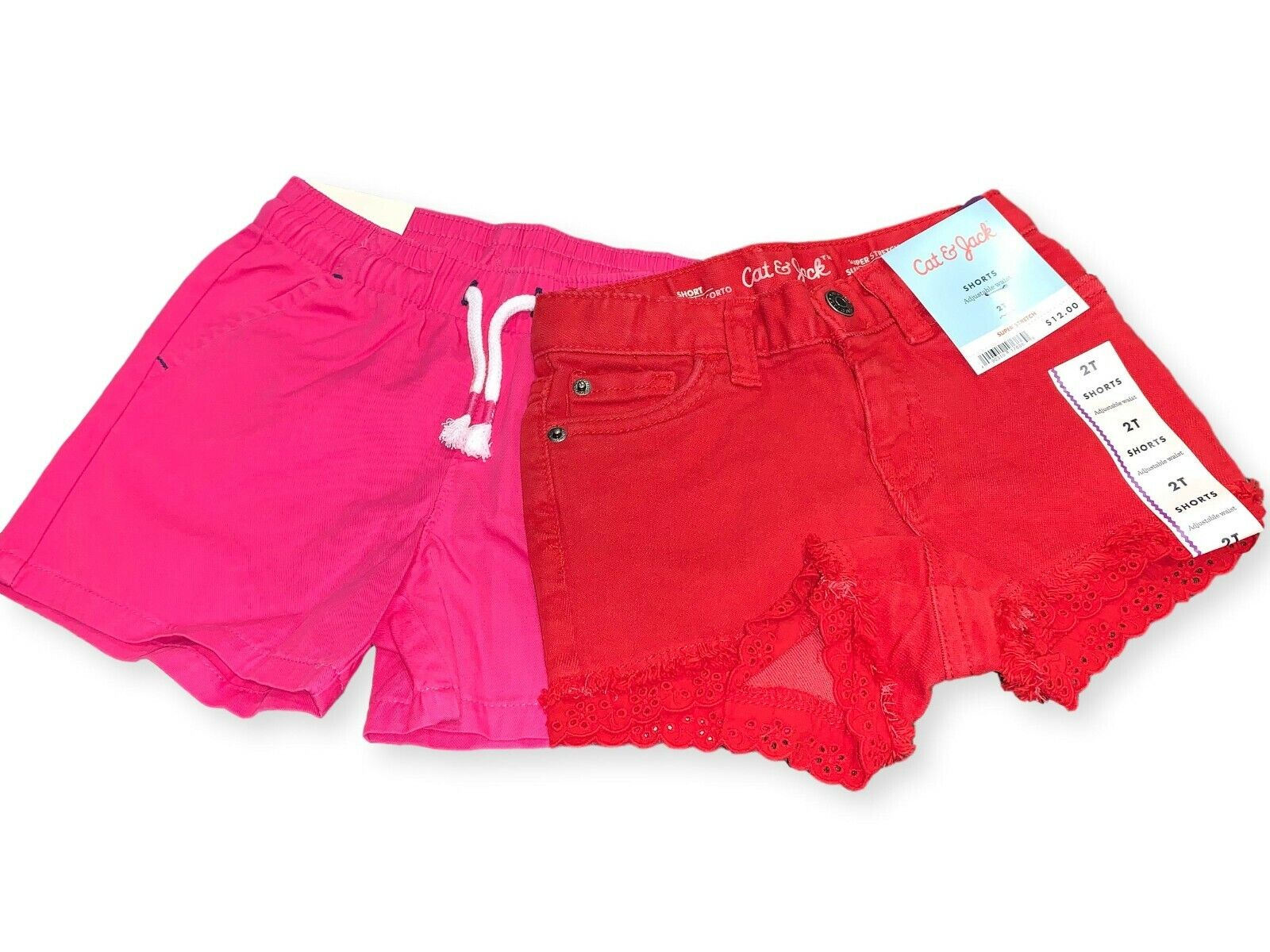 Cat & Jack Girls Summer Shorts 2 Pack- 2T (NWT) Baby