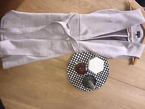 Topshop Longline Grey Vest Size 6 South Yarra Stonnington Area Preview