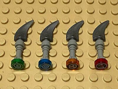 2x Lego Figures Weapon Dagger Black Sword 70738 70604 4656377 43887