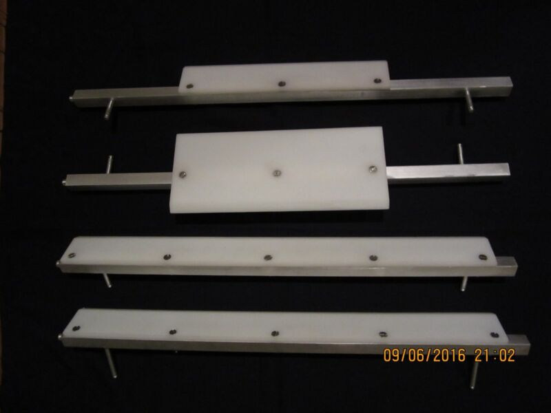 Set of scrapers with holders for MR11 and MRS11 ACME dough roller sheeter