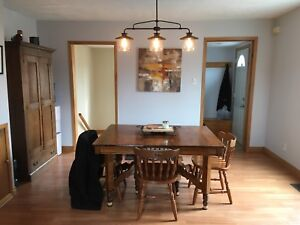 6 Leg Solid Wood Antique Table