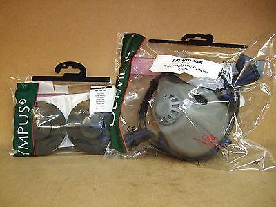 JSP Olympus Midi Halfmask twin Respirator c/w P3 cartridge filters for Asbestos