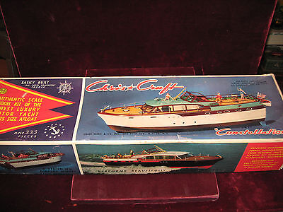 A+ VTG 57 Chris*Wiliness 54' Constallation Luxury Motor Yacht Louis Marx Boat Model