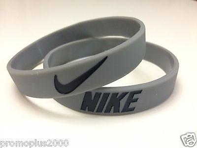 Nike Sport Baller Band Grey w/Black Silicone Wristband