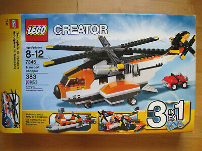 Lego 7345 RETIRED Creator 3-in-1 Transport Chopper COMPLETE w/ Box, manuals