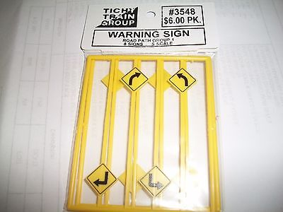 Tichy S Scale Road Path Warning Signs 8 pieces  #3548  Bob The Train Guy